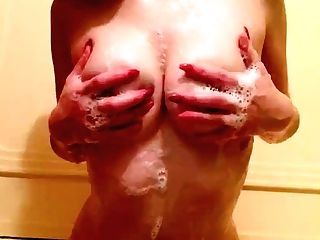Washing My Flawless Perky Tits