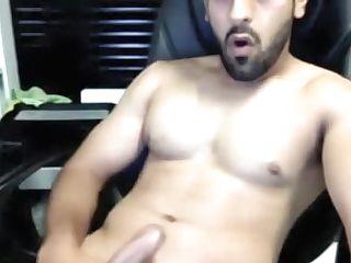 Indian Hunk Cums At Work