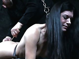 Stock Prod Is Used By Domineering Stud Taunting India Summer In Sadism & Masochism Way