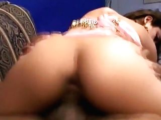 Wild Indian Gal With Nice Tits Has Joy With Two Guys On The Couch